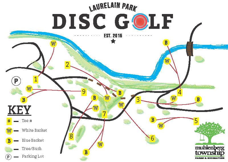 Laurelain Park Disc Golf Course Map (JPG) Opens in new window