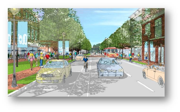 5th Street Highway and Allentown Pike Corridor Revitalization Project Digital Rendering